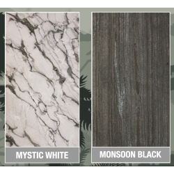 Slate Lite Marmor Monsoon Black & Mystic White